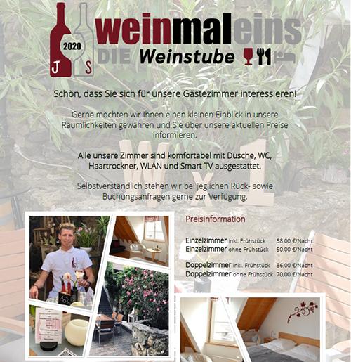 Flyer für Gästezimmer & Events als PDF